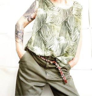 tanktop • bluse • vintage • grüntöne • naturtöne • oversized