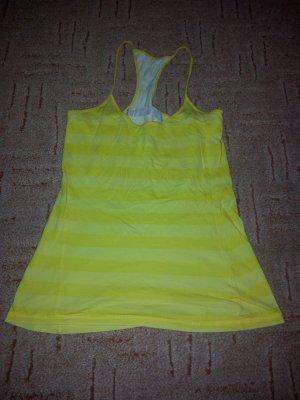 Tanktop gelb Streifen Gr. S stretch