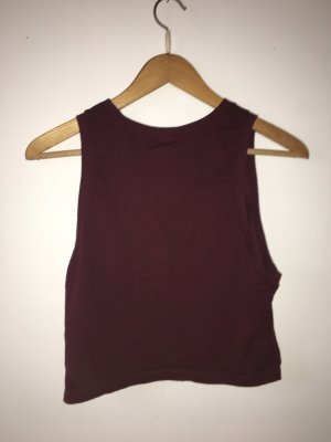 Forever 21 Tanktop wit-donkerrood