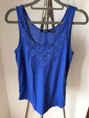 Esmara Tanktop niebieski Tkanina z mieszanych włókien
