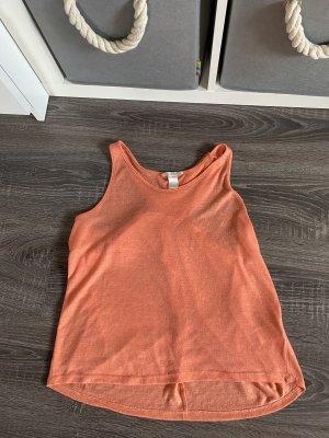 H&M Rugloze top neonoranje-oranje