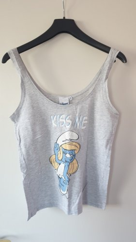 Tank Top light grey-azure