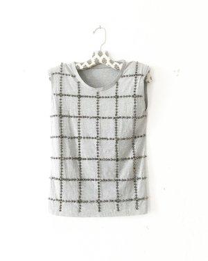 tanktop • shirt • grau • silberfarbene nieten