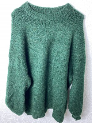 Mango Pull en laine vert foncé-vert forêt