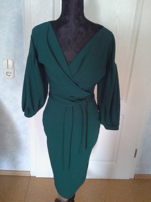 Boohoo night Evening Dress dark green polyester