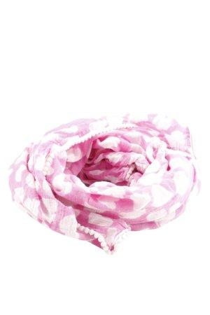 Sommerschal pink-weiß Allover-Druck Casual-Look