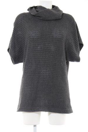 Tantum O.N. Gehaakt shirt lichtgrijs casual uitstraling