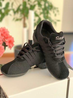 Sneaker con tacco nero Pelle