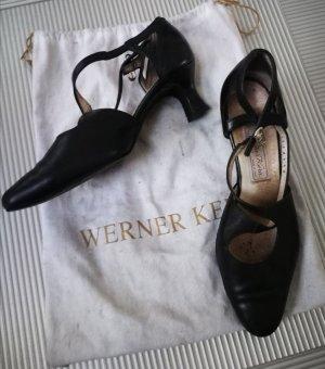 Otto Kern Sandalen met bandjes zwart Leer