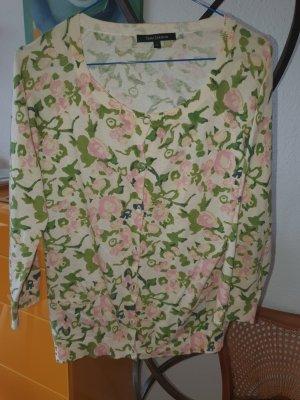 Tara jarmon Knitted Cardigan green-cream cotton