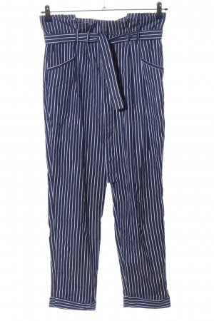 Tara jarmon Pantalone chino blu-bianco motivo a righe stile casual