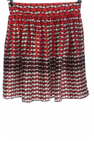 Tara jarmon Flared Skirt red-white allover print casual look