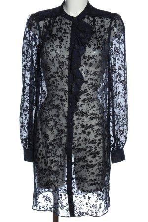 Tara jarmon Camicia blusa nero motivo floreale stile casual