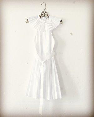 Tara Jarmon • Kleid • robe blanche plissée • popeline