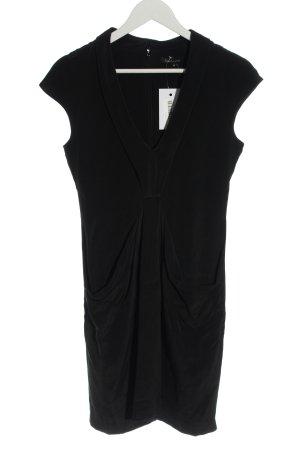 Tara jarmon Robe à manches courtes noir style décontracté