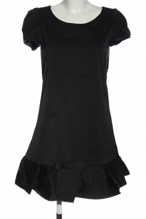 Tara jarmon Robe à manches courtes noir élégant