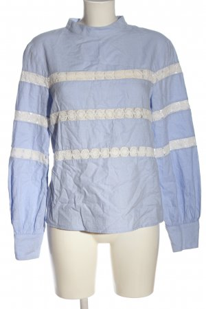 Tara jarmon Long Sleeve Blouse blue-white casual look