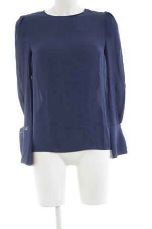 Tara jarmon Langarm-Bluse blau Business-Look