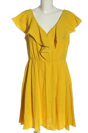 Tara jarmon Robe à manches courtes jaune primevère style décontracté