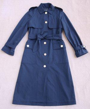 "Tara Jarmon ""Mira"" Midnight Blue Trench Coat, F/ S 2020"