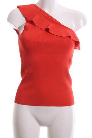 Tara jarmon Top monospalla rosso elegante