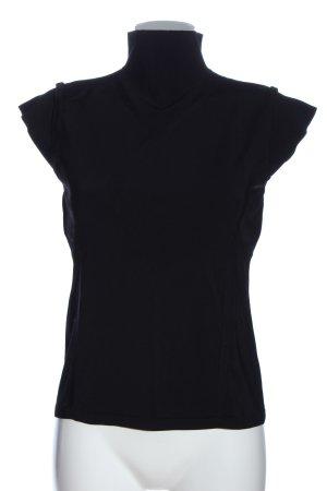 Tara jarmon Colshirt zwart zakelijke stijl