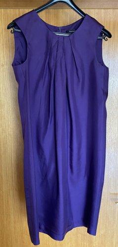 Tara jarmon A Line Dress dark violet silk