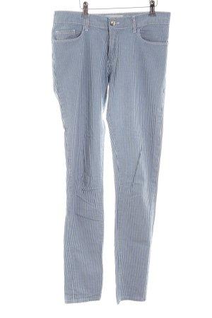 Tara jarmon Skinny Jeans blau-weiß Streifenmuster Casual-Look