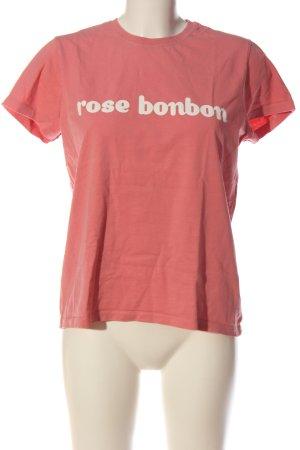 Tara jarmon T-Shirt pink printed lettering casual look