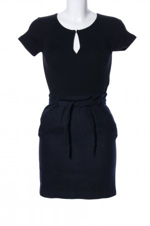 Tara jarmon Wollkleid blau Business-Look