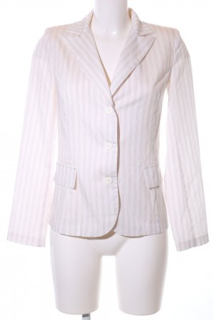 Tara Kurz-Blazer pink-weiß Streifenmuster Casual-Look