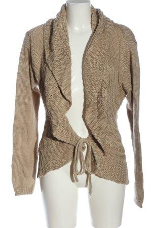 Tara Cardigan in maglia color carne puntinato stile casual