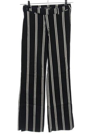 Tark'1 Stoffhose schwarz-weiß Streifenmuster Casual-Look