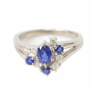 Tasaki Sapphire Diamond Ring