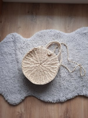 Primark Basket Bag natural white-dark yellow mixture fibre