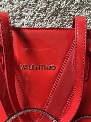 C. Valentino Burlap Bag brick red