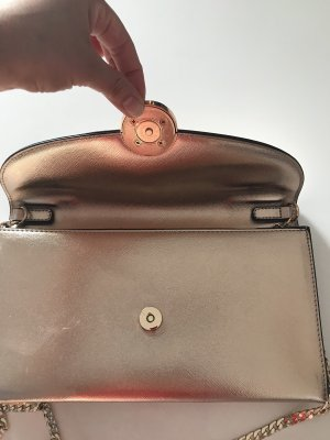 Dune Borsa clutch color oro rosa