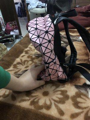 School Backpack black-pink