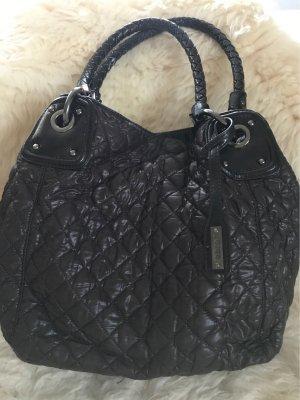 abro Pouch Bag dark brown-silver-colored