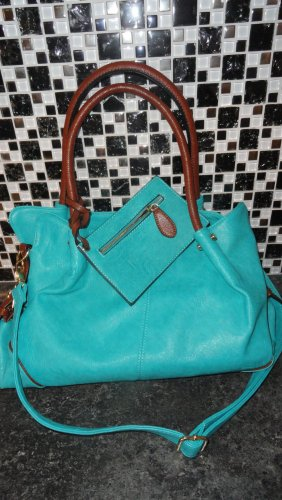 0039 Italy Crossbody bag turquoise leather