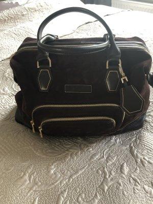 Longchamp Handbag dark brown suede