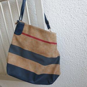 Pouch Bag dark blue-beige