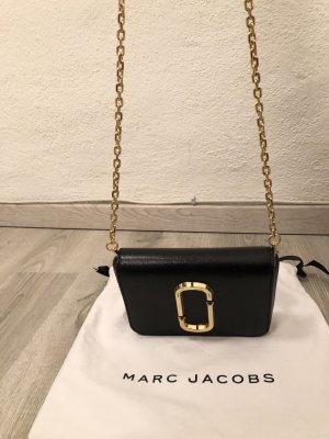 Marc Jacobs Sac Baril argenté-noir cuir