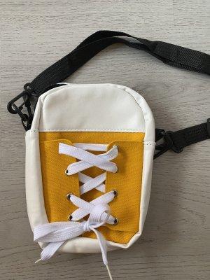 100% Fashion Torebka mini biały-żółty