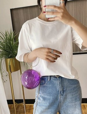 100% Fashion Torebka mini fiolet