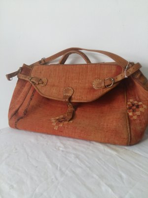 Travel Bag orange linen