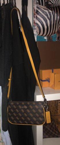 Guess Poszetka brązowy-żółty