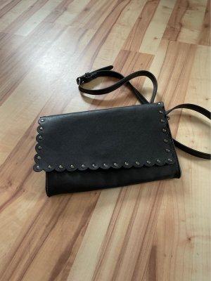 Bjou Brigitte Gekruiste tas zwart-zilver
