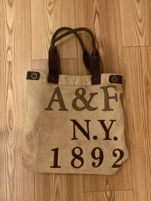 Abercrombie & Fitch Sac porté épaule chameau-brun noir lin