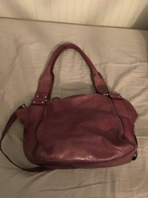 abro Shoulder Bag grey lilac leather